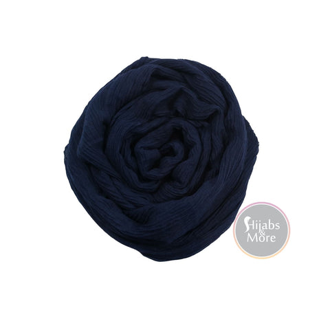 NAVY BLUE Plain Rayon