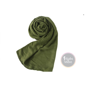 OLIVE GREEN Solid Viscose