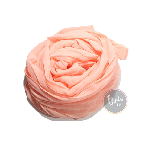 PEACH Pleated Chiffon