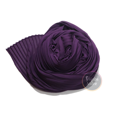 PURPLE Pleated Chiffon