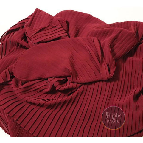 RED Pleated Chiffon