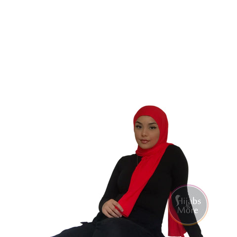 ROYAL RED Premium Jersey - Hijabs