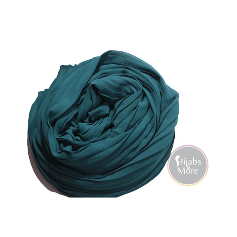 TEAL Pleated Chiffon