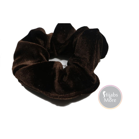 VELVET Scrunchies - COFFEE