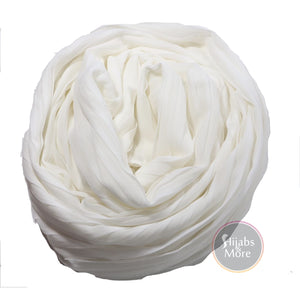 WHITE Pleated Chiffon