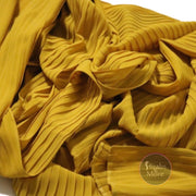 YELLOW Pleated Chiffon