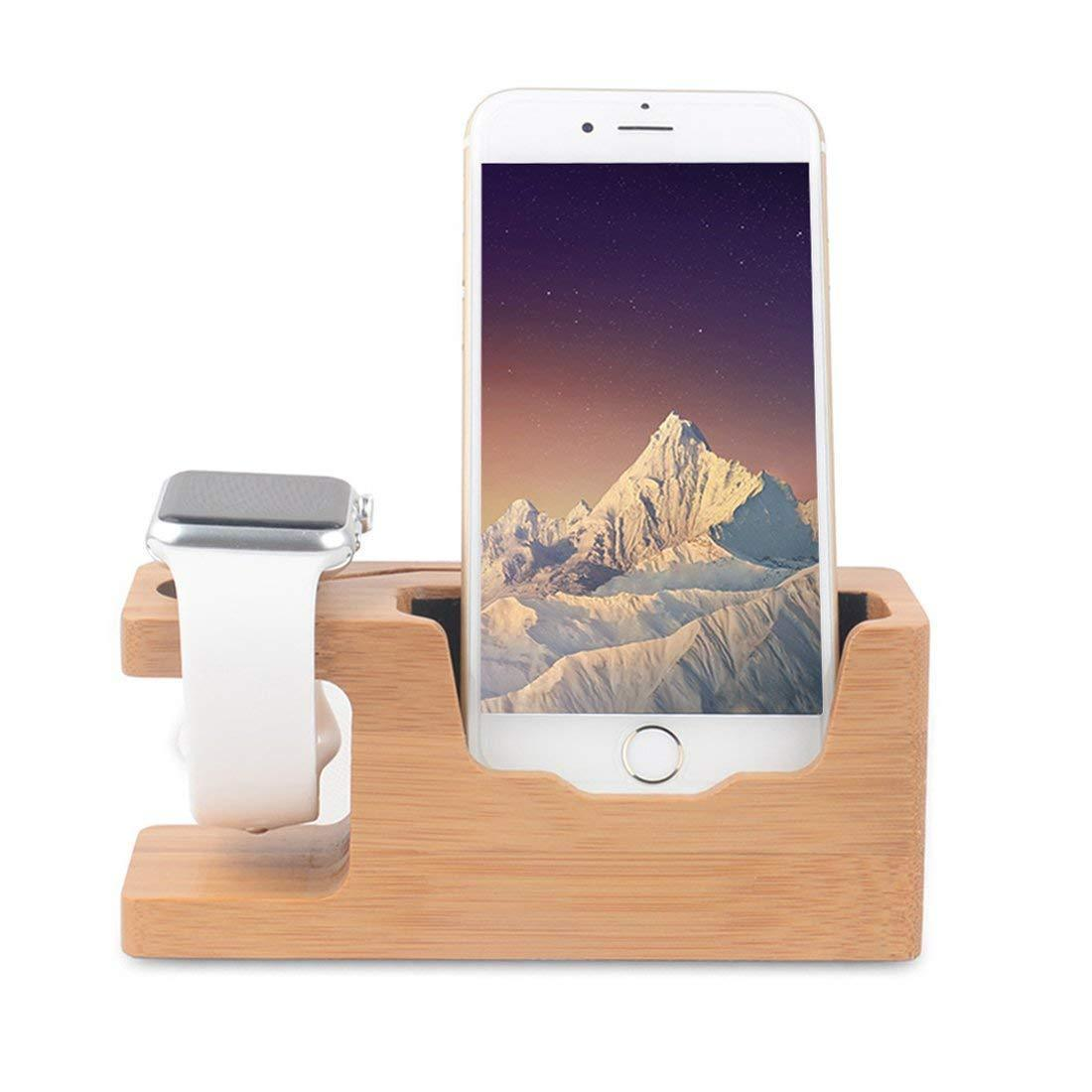 New Bamboo Wood USB Charging Station Desk Stand Charger For Your New Phone