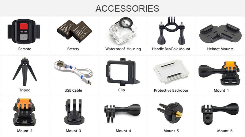 4k action camera accessories
