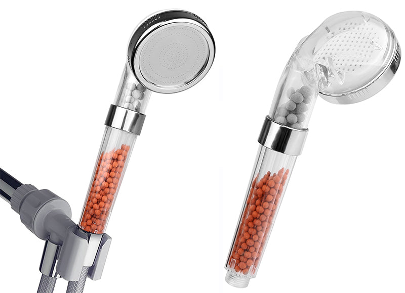ionic shower head filter front and back view