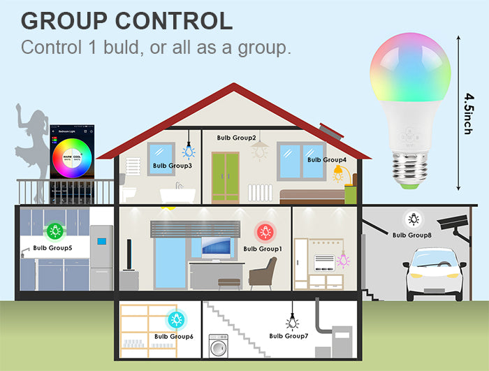 group smart bulb control