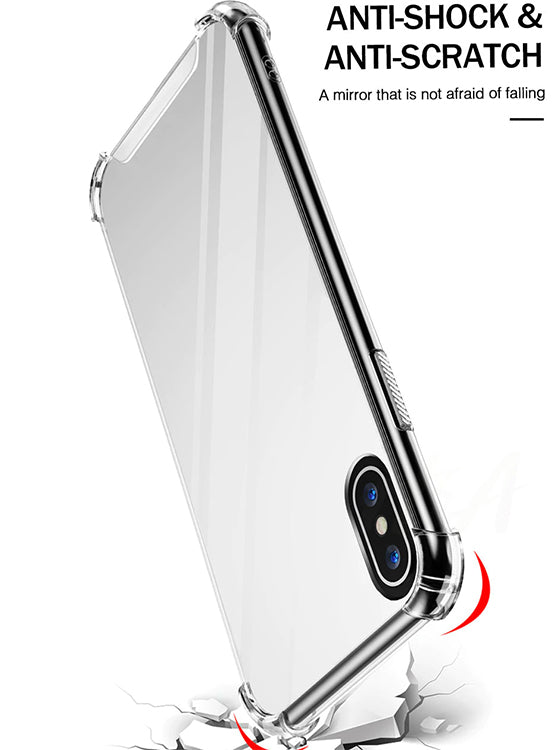 mirror iphone case with shockproof edges