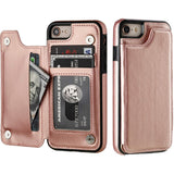 iPhone Leather Wallet Case Magnet 6 7 8 X XS XR 11 - savesummit.com