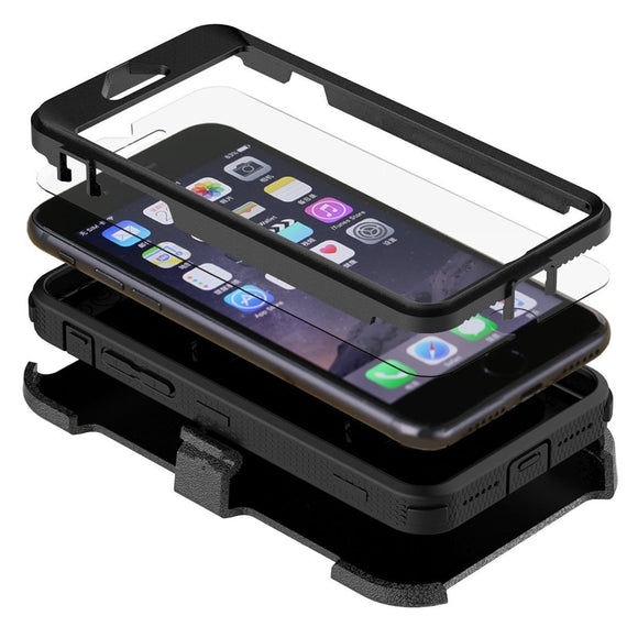 Built In Screen Protector Hybrid iPhone Case