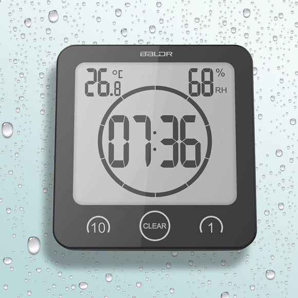 Waterproof Shower Clock Thermometer - savesummit.com