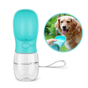 Portable Pet Dog Water Bottle With Lanyard