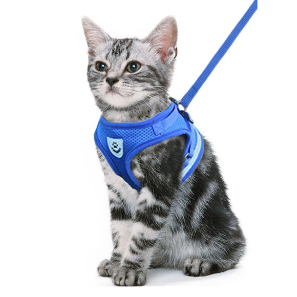 Cat Harness Leash Reflective