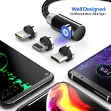 3-in-1 Magnetic Charger Cable Lightning Type-C Micro - savesummit.com