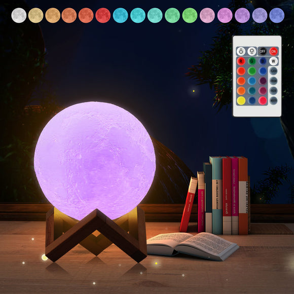 3D Moon Lamp Night Light Color Changing - savesummit.com