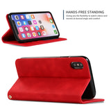 iPhone Suede Leather Flip Case