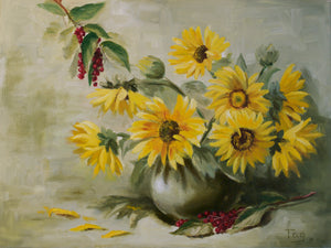 """Sunflowers and Chokecherries"""