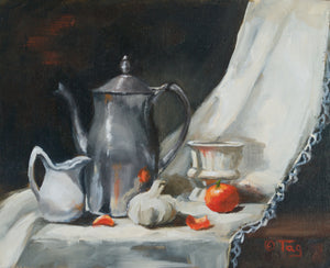 """Pewter and Oranges""  8x10"