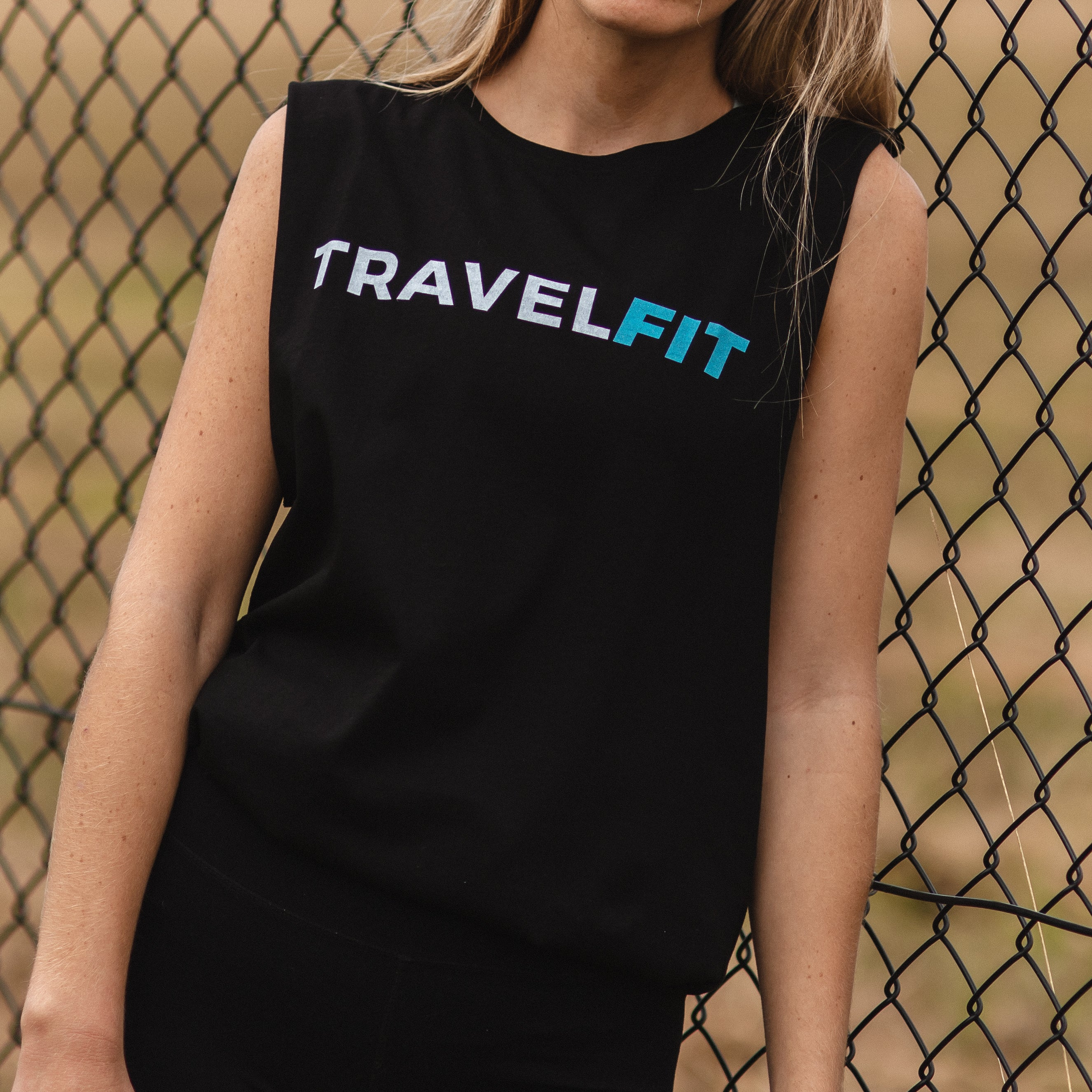 Women's Active Traveller Singlet  - Classic Black