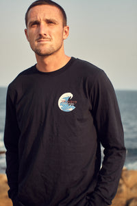 Tozai Tee - Navy Blue, Long Sleeve