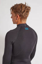 Bronte Series 1.5mm Wetsuit Top - Black Neoprene, Blue Logo