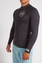 Bronte Series 1.5mm Wetsuit Top - Black Neoprene, White Logo