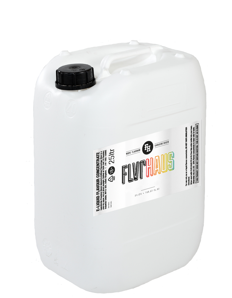 25 Litre FLVRHAUS Concentrate by The Ace of Vapez for all your DIY Vaping Needs