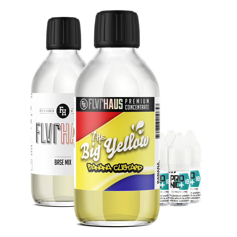 FLVRHAUS Eliquid Bundle - The Big Yellow Banana - 250ml