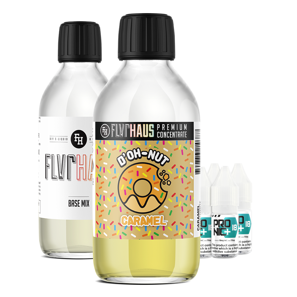 FLVRHAUS Eliquid Bundle - D'OH-NUT Caramel - 250ml