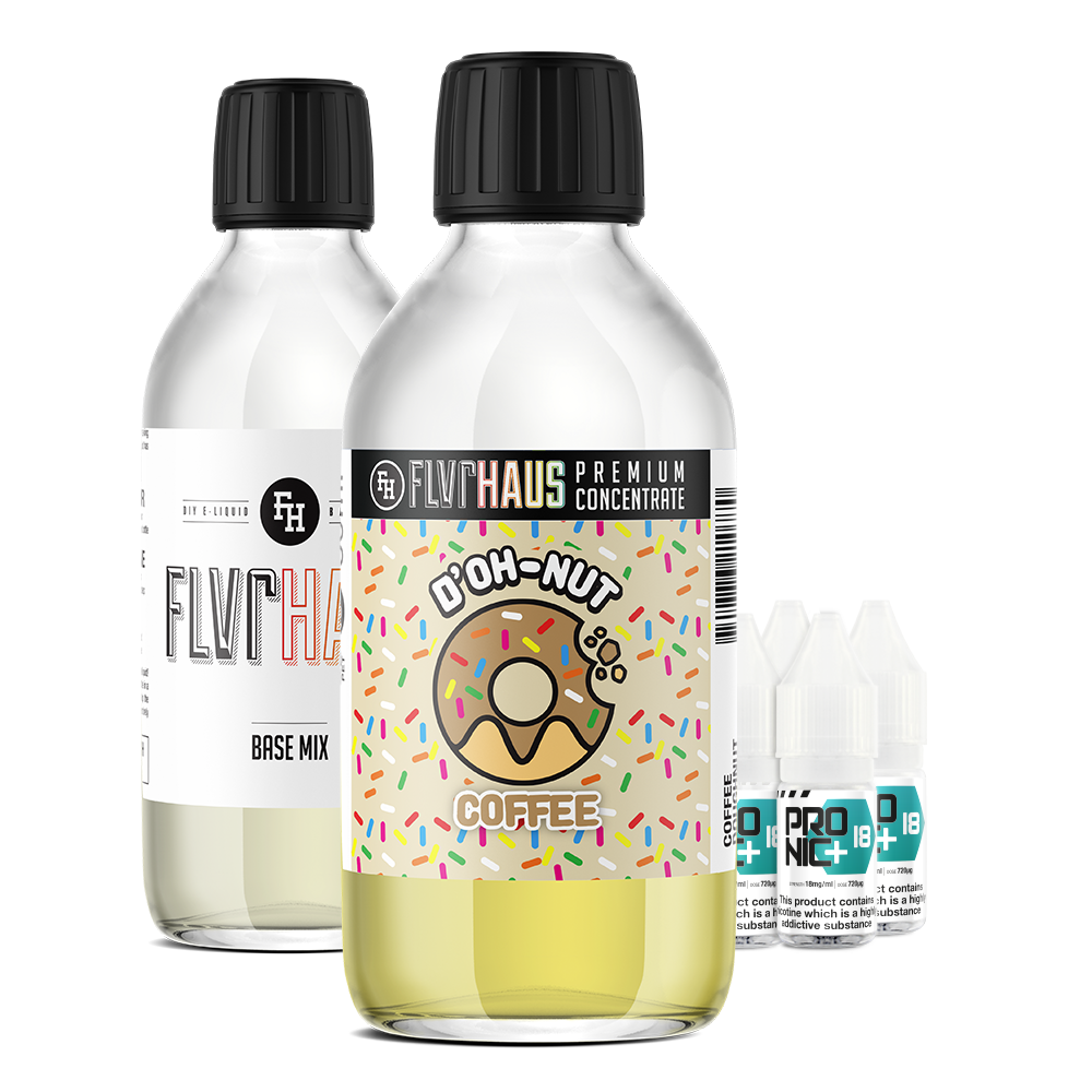 FLVRHAUS Eliquid Bundle - D'OH-NUT Coffee - 250ml