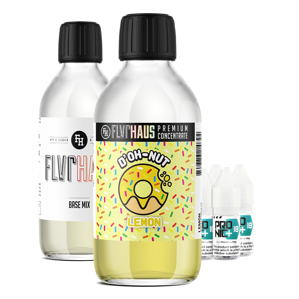 FLVRHAUS Eliquid Bundle - D'OH-NUT Lemon - 250ml