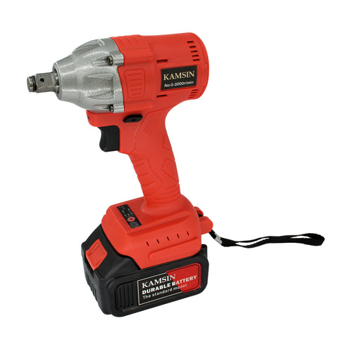Kamsin Power-driven Wrenches Electric Wrench with Lithium Battery Rechargeable Electric Cordless Impact Wrench