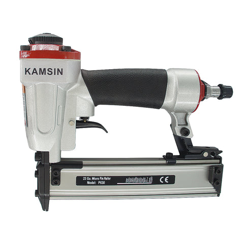 Kamsin P630C Power Pin Nailer 23 Gauge 3/8'' -1-3/16'' leg Micro Pinner Headless Pinner Pneumatic Nail Guns
