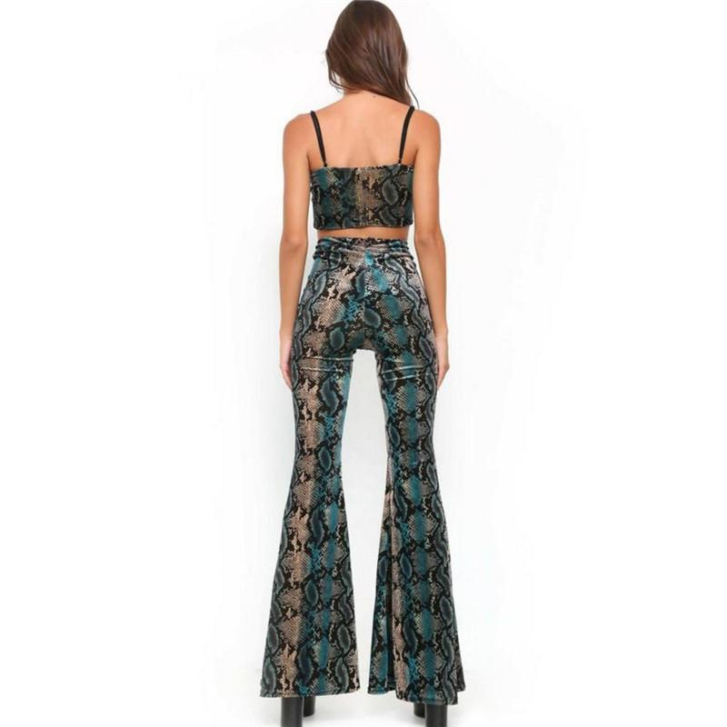 SNAKE SKIN TWO-PIECE JUMPSUIT