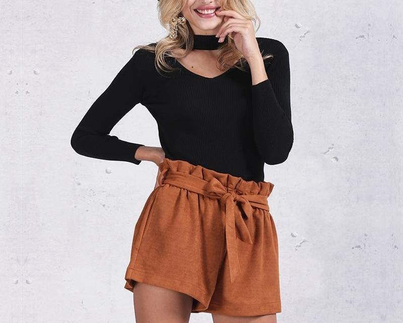 HALTER KNITTED PULLOVER SWEATER
