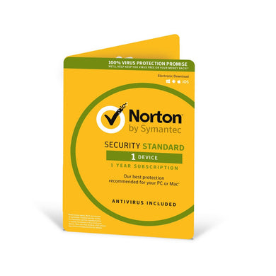 Norton Security Standard 2019 |1 Device | 1 Year | Antivirus included | PC/Mac/iOS/Android | Activation Code by Post