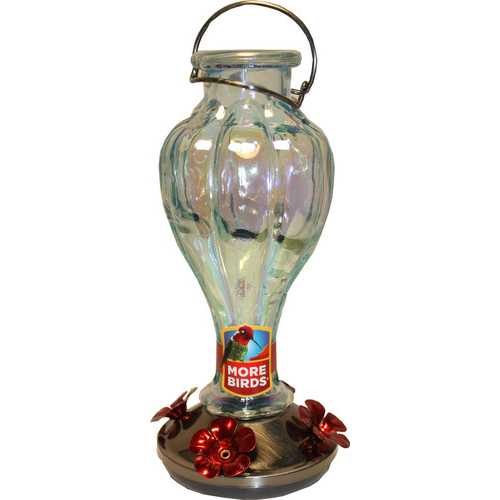 Rainbow Blossom Glass Hummingbird Feeder