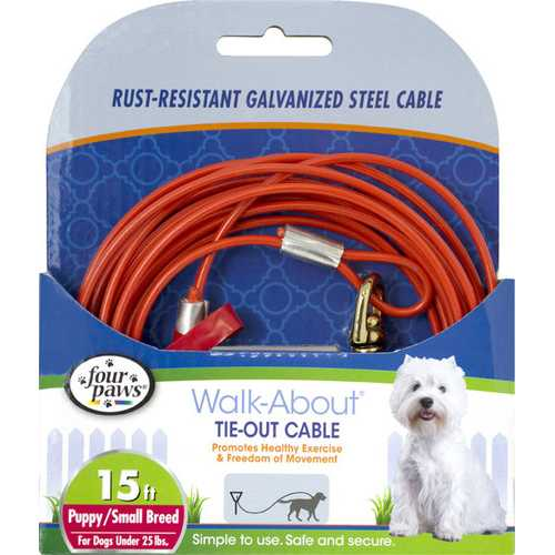 Four Paws Tie Out Cable- Puppy