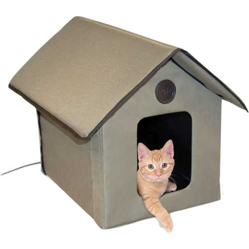 Outdoor Heated Kitty House  [22 X 17]