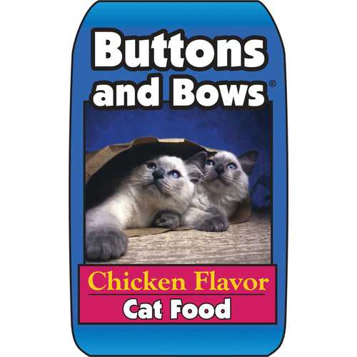 Buttons And Bows Cat Food (Chicken Flavor)  [40 Lb]