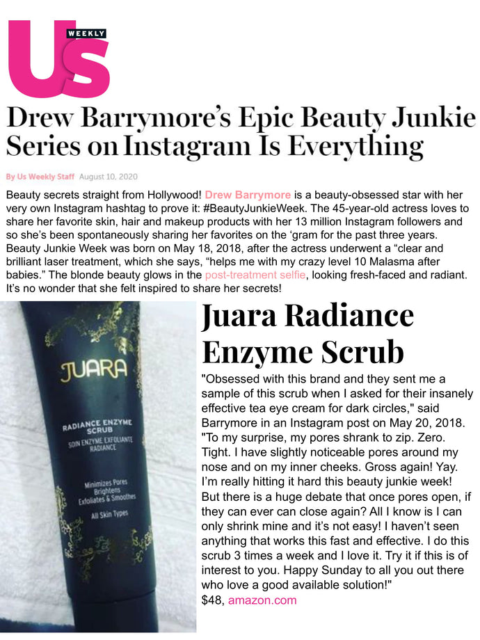 US WEEKLY : Drew Barrymore's Epic Beauty Junkie Series on Instagram Is Everything