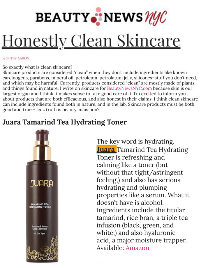 BEAUTY NEWS NYC : Honestly Clean Skincare