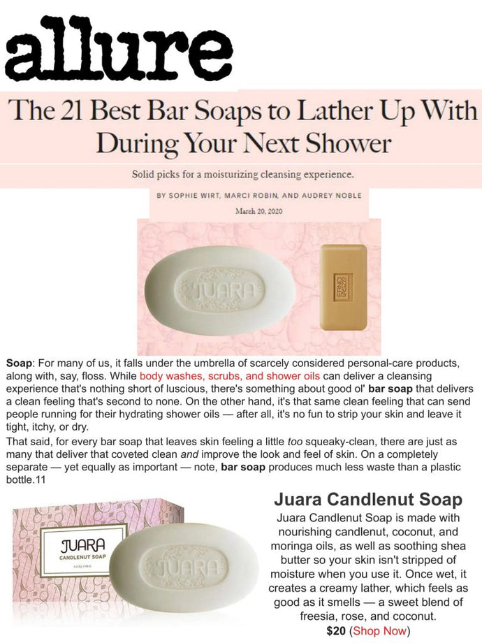 ALLURE: The 21 Best Bar Soaps to Lather During Your Next Shower