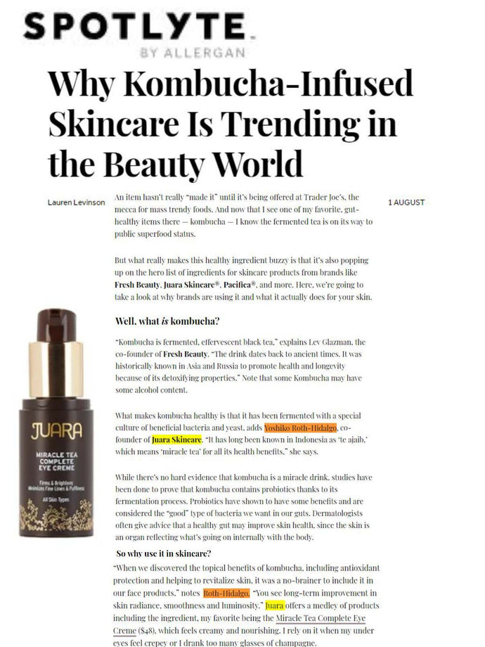 SPOTLYTE: Why Kombucha-Infused Skincare Is Trending in the Beauty World