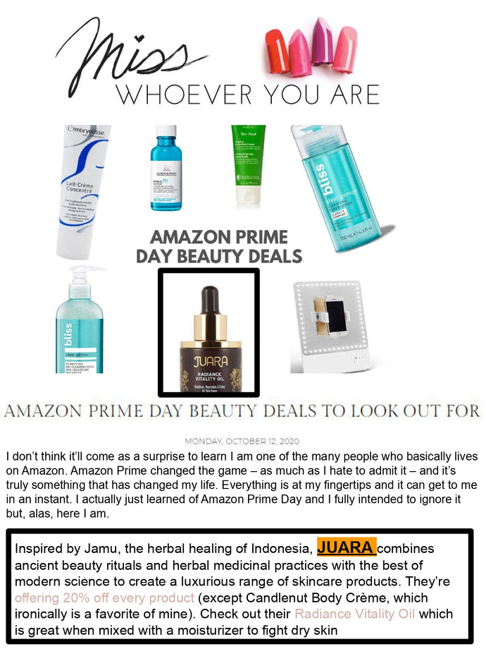 MISS WHOEVER YOU ARE : Amazon Prime Day Beauty Deals To Look Out For