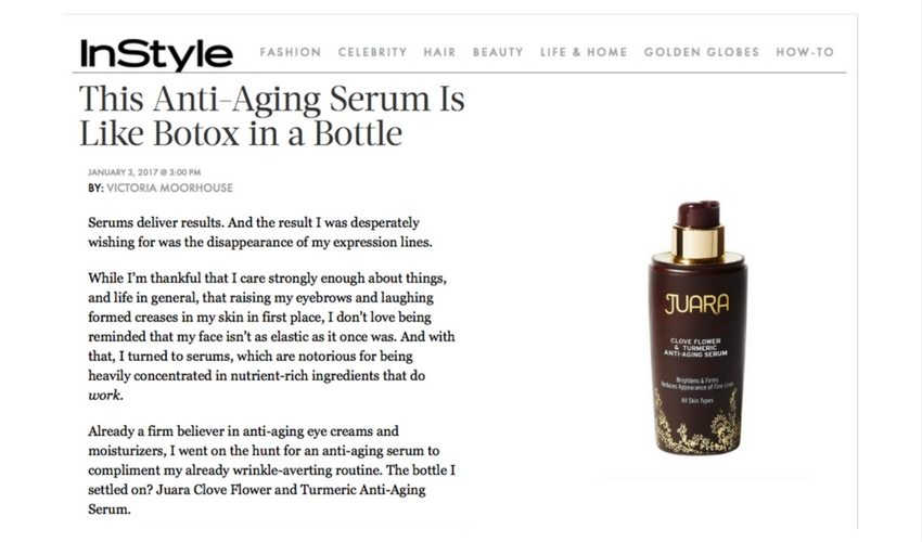 Instyle clove anti-aging serum article