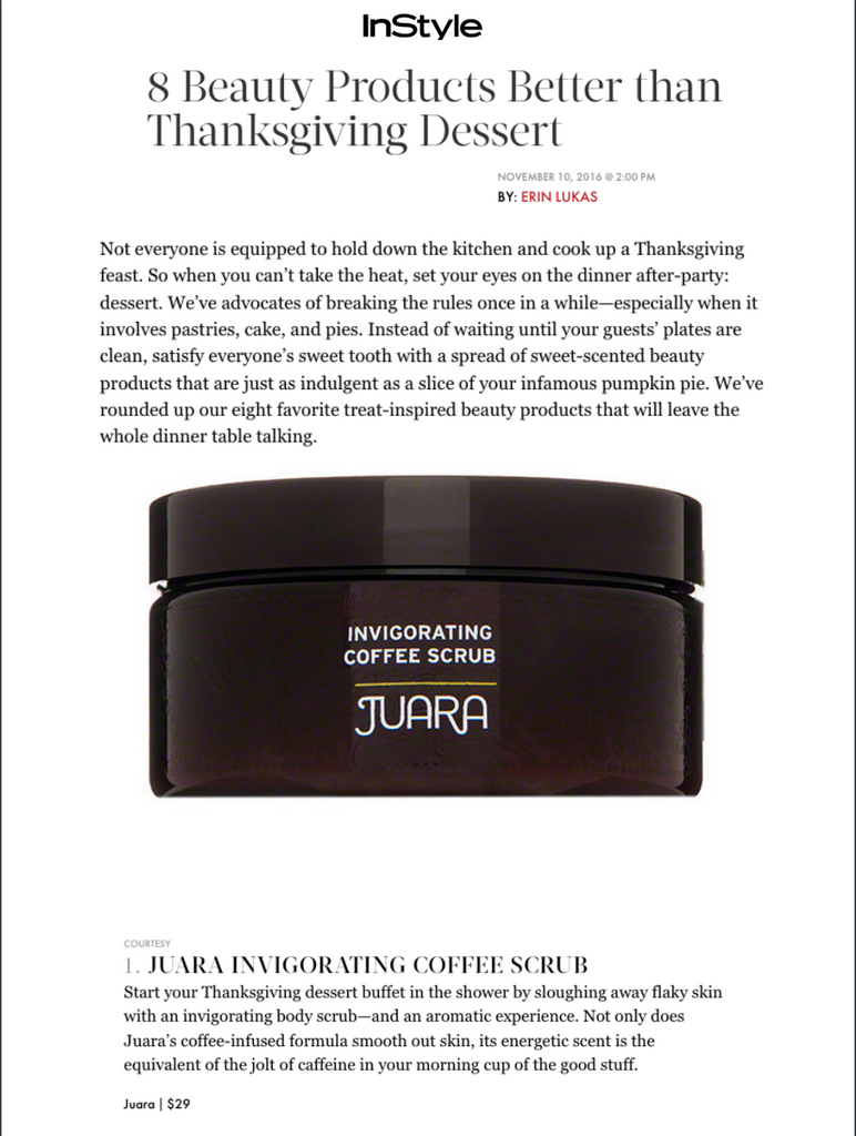 InStyle invigorating Coffee Scrub